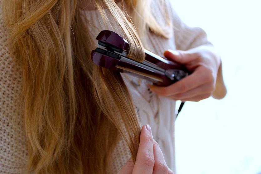Beauty Blog Weihnachtsfrisur BaByliss Haarglätter iPro 230 Steam Hair Tutorial Locken machen Glätteisen