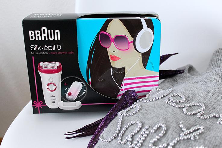 Braun Silk-épil 9 9-527 Music Edition Epilierer Blogger Adventskalender #kölnbloggt Beauty Blog schnell und präzise epilieren Weihnachtsgeschenk