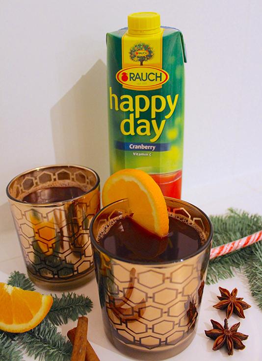 Cranberry Adventspunsch Rezept weihnachtlicher Mädelsabend Interior Glas Zimt Saft Orange Dekoration Food Blog