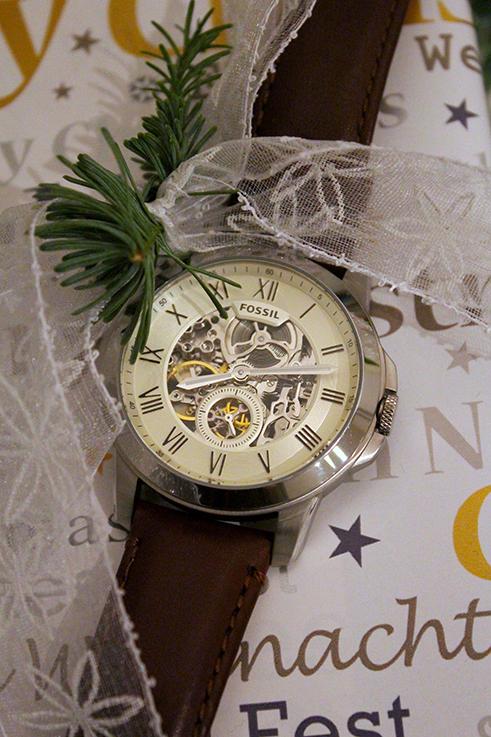 Weihnachts-Geschenkideen Freund Fossil Uhr Armbanduhr Automatik Lifestyle Blog Hilfe Weihnachten