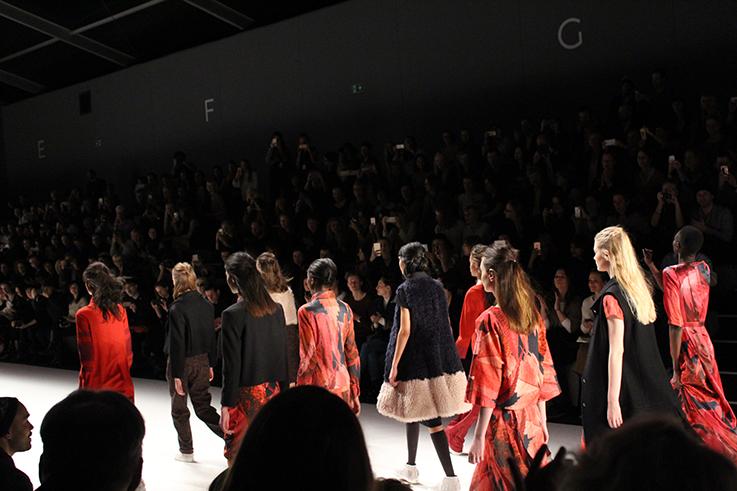Anne Gorke Fashion Show DYE & THE SKY Herbst/Winter 2016/17