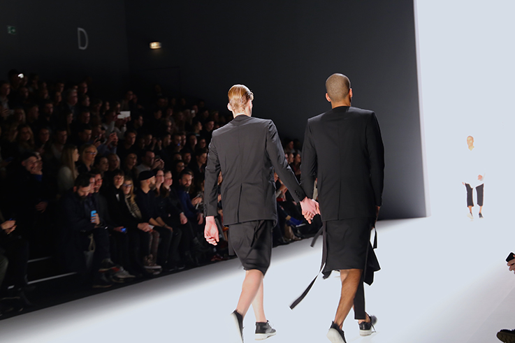 Backstage Fashion Week Berlin Januar 2016 MBFWB Odeur Fashion show Ecco Shoes Male Models