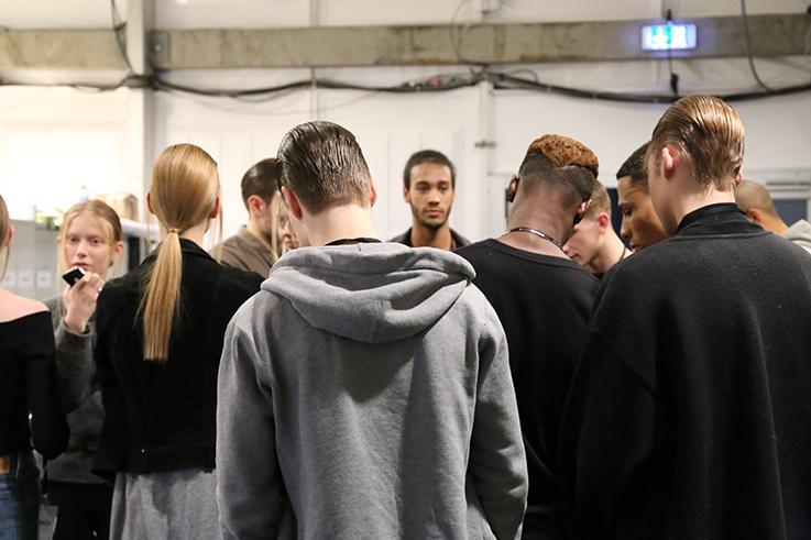 Backstage Fashion Week Berlin Januar 2016 MBFWB Odeur Fashion show Ecco Shoes Models