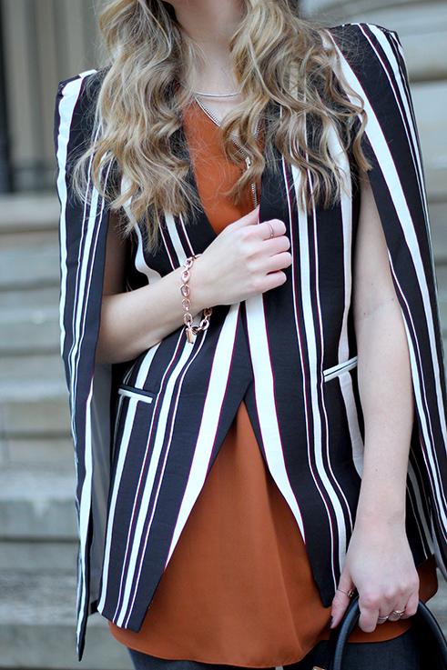 Fashion Week Outfit MBFW Cape-Blazer Herbststreifen Asos Statement OOTD Modeblog Köln 5
