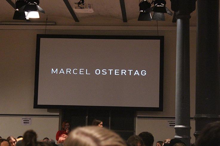 Marcel Ostertag Fashionshow Rain Herbst : Winter 2016 Januar Fashion Week Berlin Runway Location