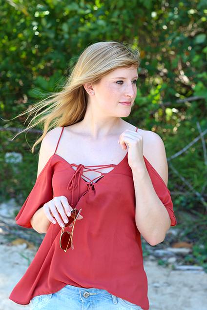 Beach Look Schnüroberteil Asos Jeans Hotpants Hollister Strandmode Coconut Beach Khao Lak Thailand Reiseblog Outfit OOTD 8
