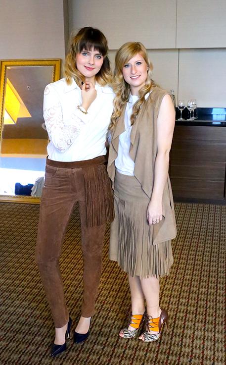 Julia Des-Belles-Choses Brinis FashionBook Alba Moda Blogger Brunch Hilton Berlin MBFW Blogger Event Modeblog Leder Outfits