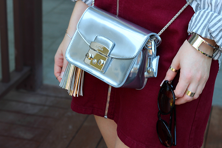 Outfit Sightseeing Thailand Furla Tasche Silber Zalando A-Linien Jeansrock Asos Modeblog 8