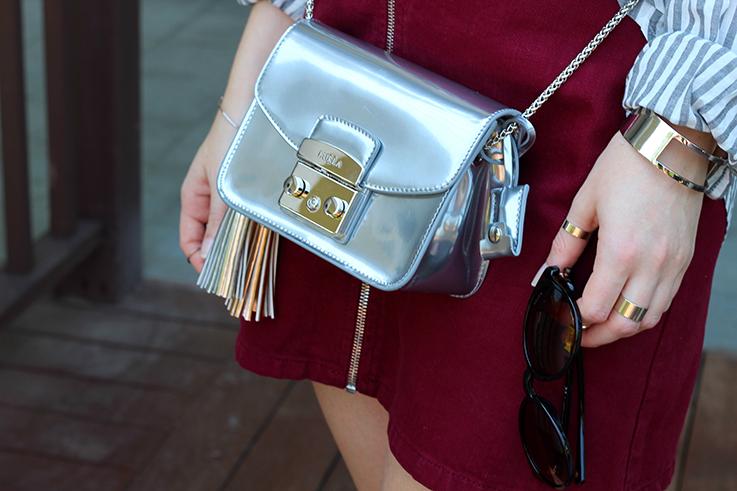 Outfit Sightseeing Thailand Furla Tasche Silber Zalando A-Linien Jeansrock Asos Modeblog 8