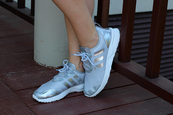 Outfit Sightseeing Thailand Silber Graue Sneaker Adidas Zx Flux Verve Metallic Modeblog 7