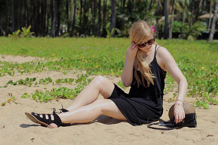 Schwarzes Jersey Strandkleid Sommer Outfit Asos Khuk Khak Beach Khao Lak Strandoutfit Modeblog 4