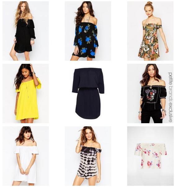 Sommer Trend Off-Shoulder Kleider schulterfrei Modeblog Outfit Shopping