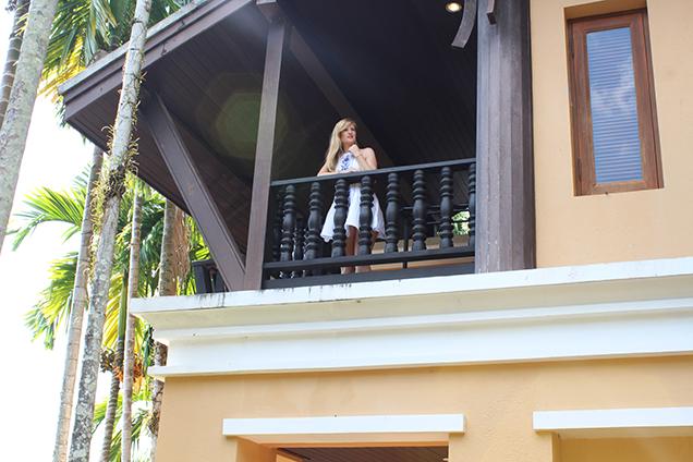 Weißes Strandkleid Outfit Thailand Strandlook Urlaub Modeblog 2