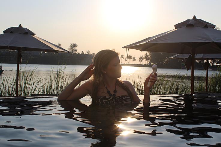 Braun FaceSpa Sensitive Beauty Haut Hautpflege Beautyblog Sonnenuntergang Urlaub