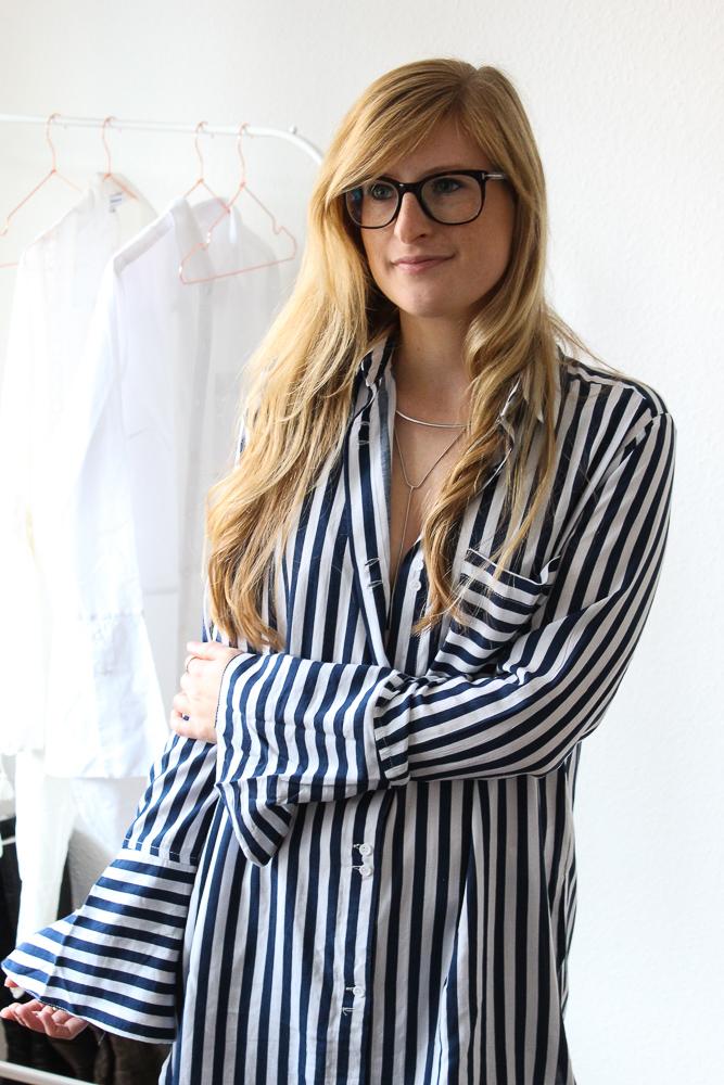 Frühlingstrend Blusen Blusentrend Fashion Blog blau weiß gestreifte Bluse 1