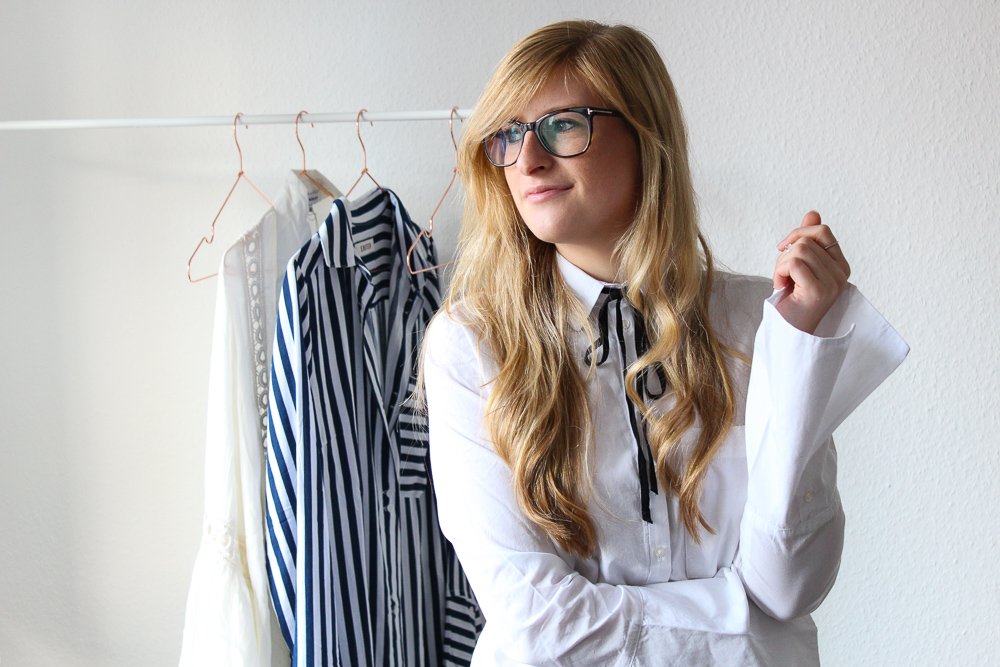 Frühlingstrend Blusen Blusentrend Fashion Blog weiße Bluse Trompetenärmel 2