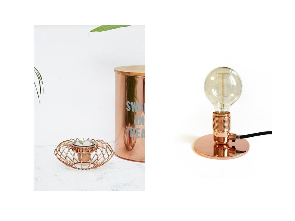 wohntrend kupfer dekoration | interior shopping - brinisfashionbook