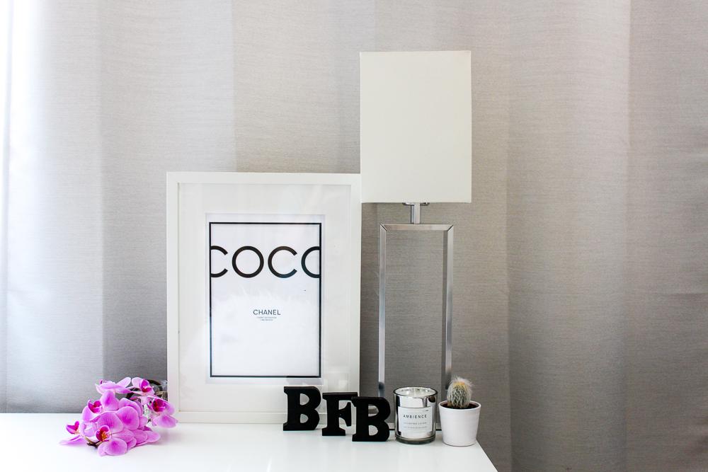 Blogger Arbeitsplatz Modeblogger Arbeitszimmer Einblicke Interior Coco Chanel