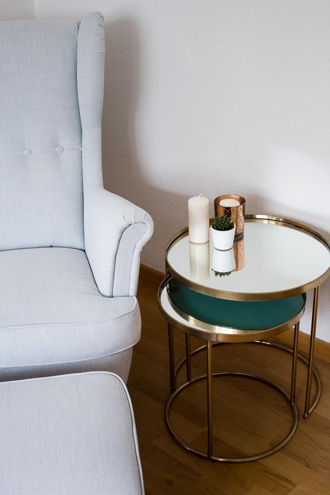 Blogger Arbeitszimmer Modeblogger Interior Sessel Ikea Strandmon Kupfer Tisch Zara Home