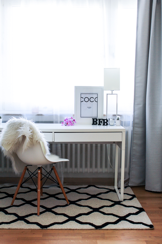 Blogger Arbeitszimmer Modeblogger Köln Interior Eames Stuhl Westwing Teppich