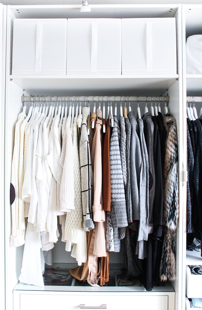 Interior Ankleidezimmer Kleiderschrank offenes System Einrichtung Ikea Pax weiß