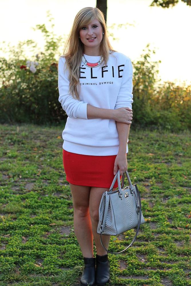 CELFIE Sweater casual Fashion Look Sonnenuntergang Rhein Bonn Modeblog 1
