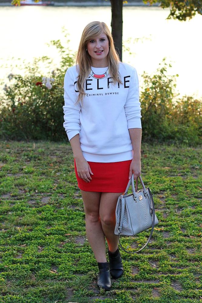 CELFIE Sweater casual Look Sonnenuntergang Rhein Bonn Modeblog 7