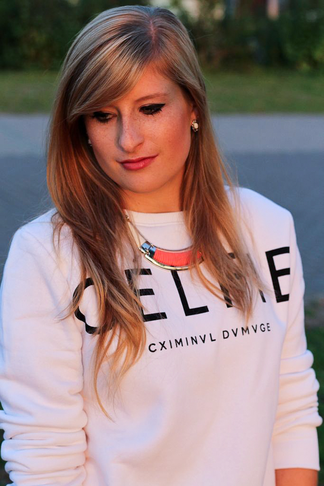 CELFIE Sweater kombinieren Sonnenuntergang Rhein Bonn Modeblog 2