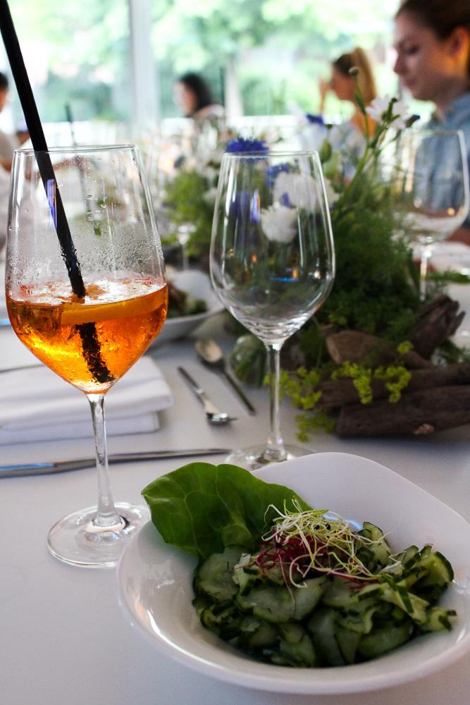 Mercure Blogger Event Hamburg Gurkensalat Aperol Spritz