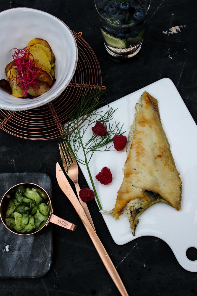 Mercure Blogger Event Hamburg Traditionsgericht Scholle Finkenwerder Food-Styling Workshop Maria Brinkop
