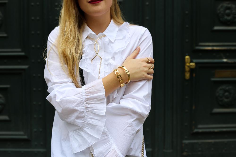 Modeblog Berlin Streetstyle kombinieren Weiße Rüschenbluse European Culture 9
