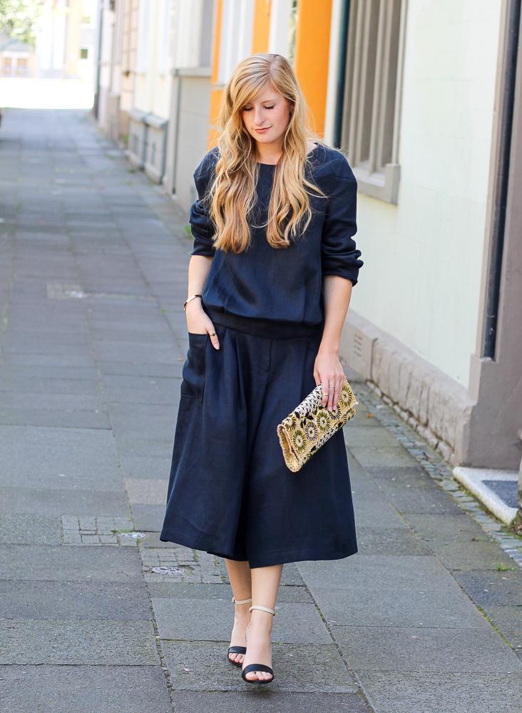 All Black Zweiteiler Anne Gorke Schwarze Culotte Clutch Abury Sparkle Store Outfit Modeblog 6