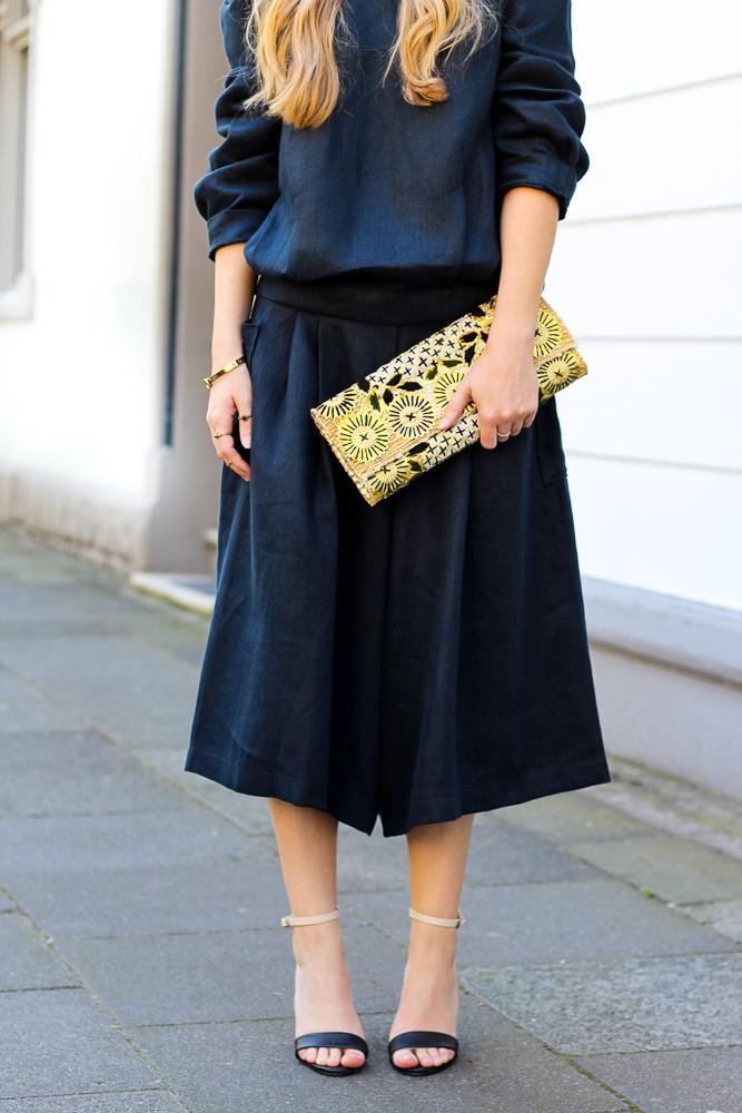 All Black Zweiteiler Anne Gorke Schwarze Culotte Clutch Abury Sparkle Store Outfit Modeblog 92