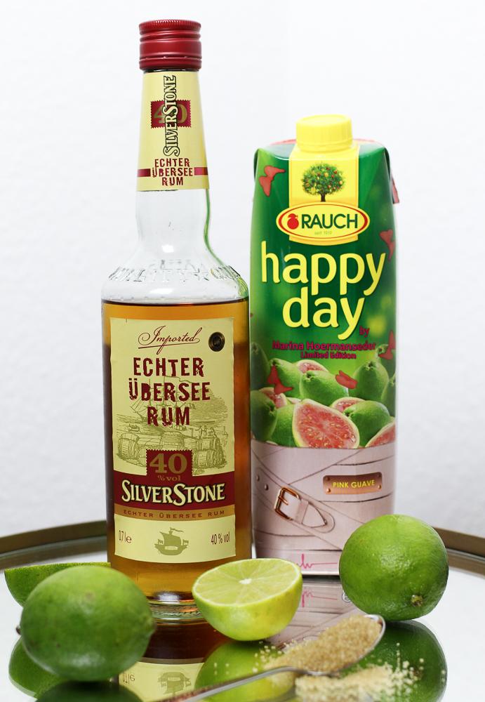 Mädelsabend Cocktail Rum Happy Day Pink Guave Marina Hoermanseder exklusive Foodblog Rezept