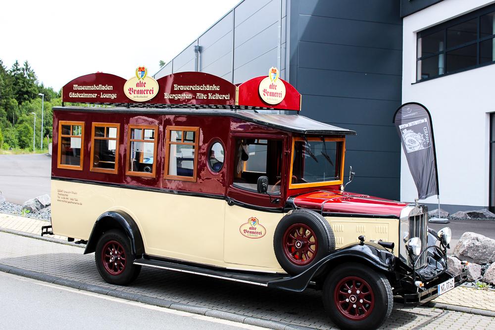 historischer Bus Alten Brauerei Kasbach Bonn Ausflugsziel