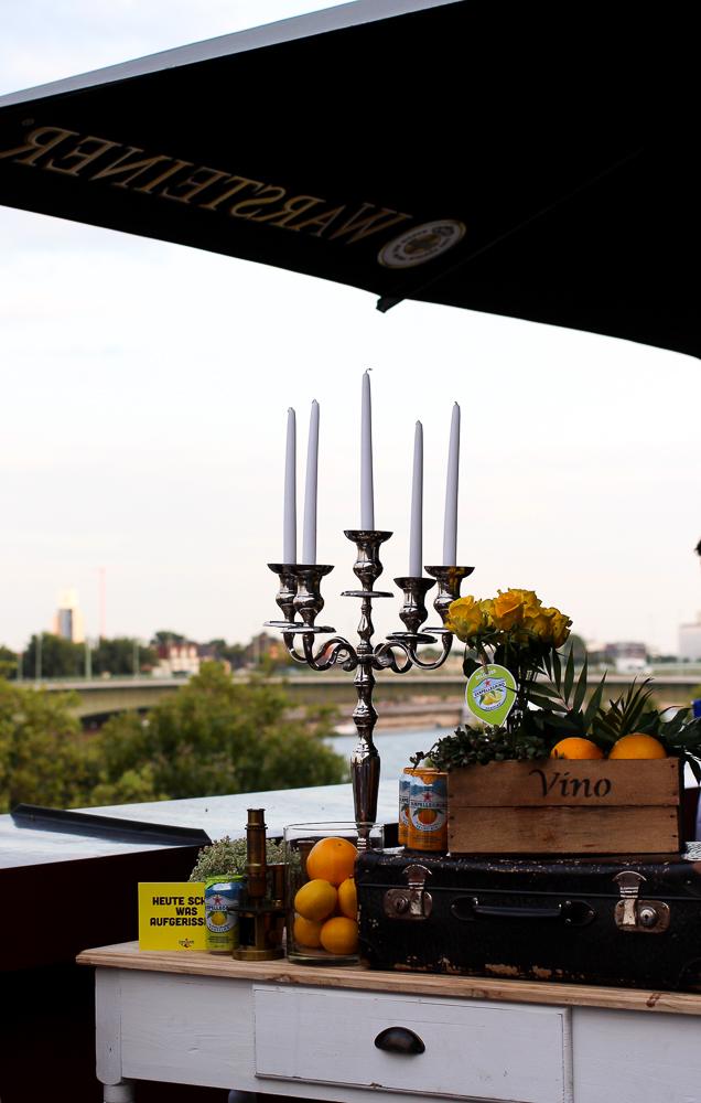 After Work Cocktails Sanpellegrino Limonaden Aperitivo Rheinloft Dachterrasse Köln Skyline Blogger Event