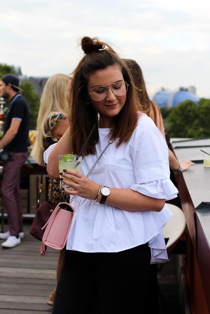 Mira Selfbelle After Work Cocktails Sanpellegrino Aperitivo Rheinloft Dachterrasse Köln Modeblog