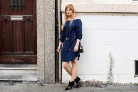 Off-Shoulder Kleid Sommertrend kombinieren Zara Stiefeletten Furla Metropolis silber Modeblog Köln t