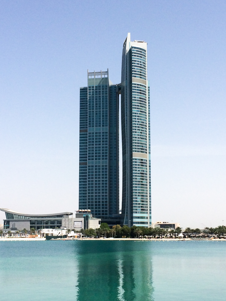 Reiseblog Deutschland Reiseblogger vereinigten Arabische Emirate Abu Dhabi Hotel Wolkenkratzer