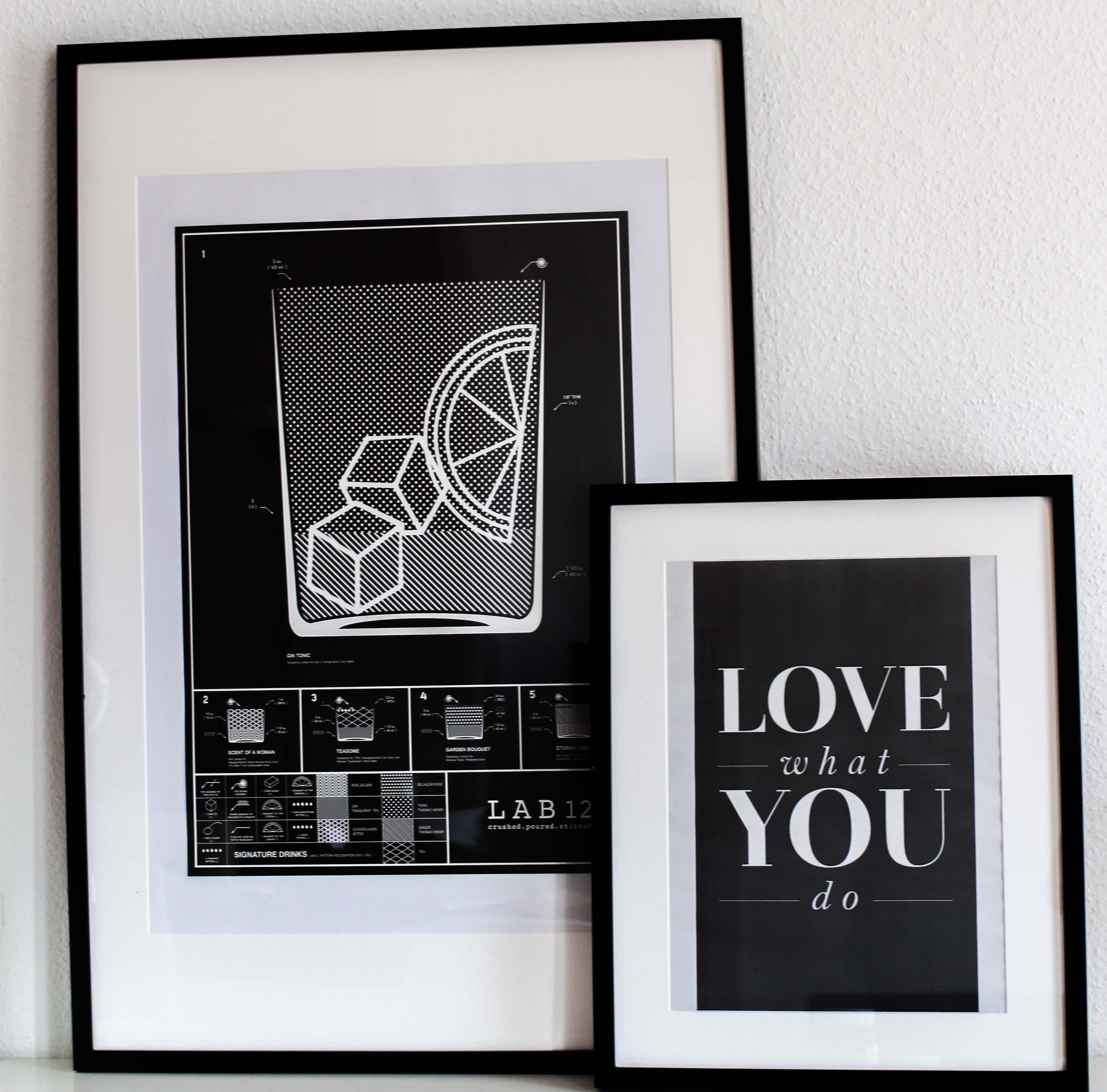 Blogger Tipps Vollzeitjob Bloggen Interior Bilderwand Love What You Do Lab12 Poster