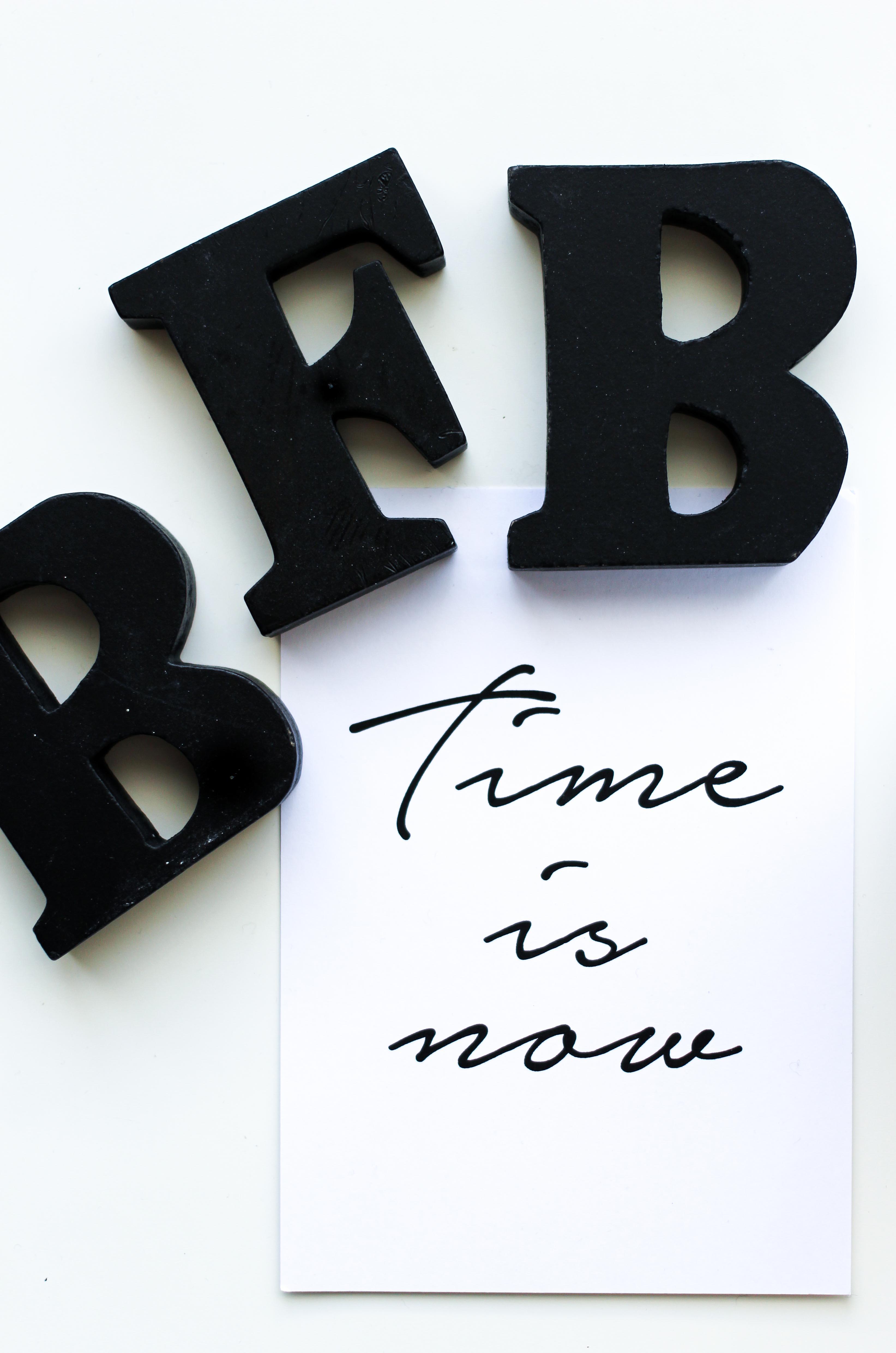 Blogger Tipps Vollzeitjob Bloggen Interior Poster Time is now