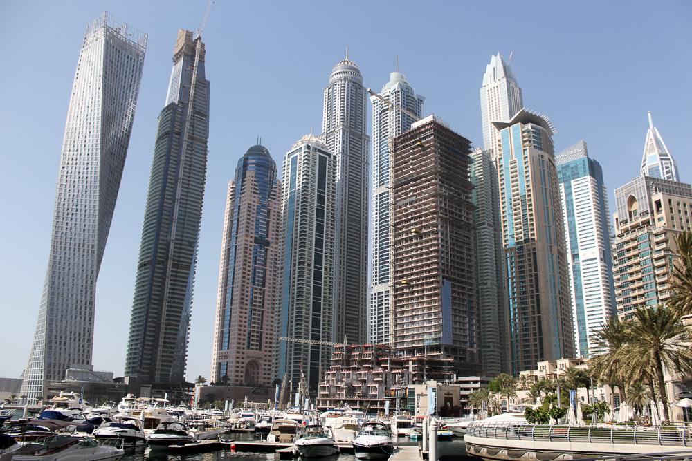 Ein Tag in Dubai Reisetipps Dubai-Reise Sightseeing Marina Dubai Wolkenkratzer Reiseblog