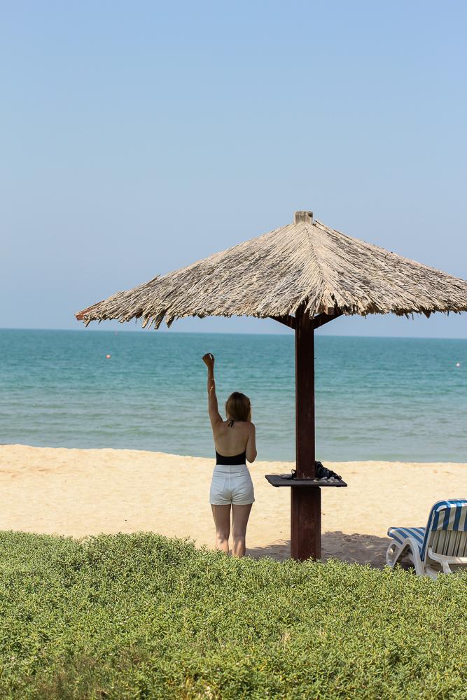 Reiseblogger BrinisFashionBook Hotel Ras Al Khaimah Hilton Beach Strand Hut Vereinigte Arabische Emirate 2