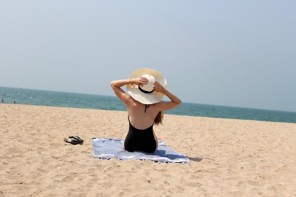 Reiseblogger BrinisFashionBook Hotel Ras Al Khaimah Hilton Beach Strand Hut Vereinigte Arabische Emirate