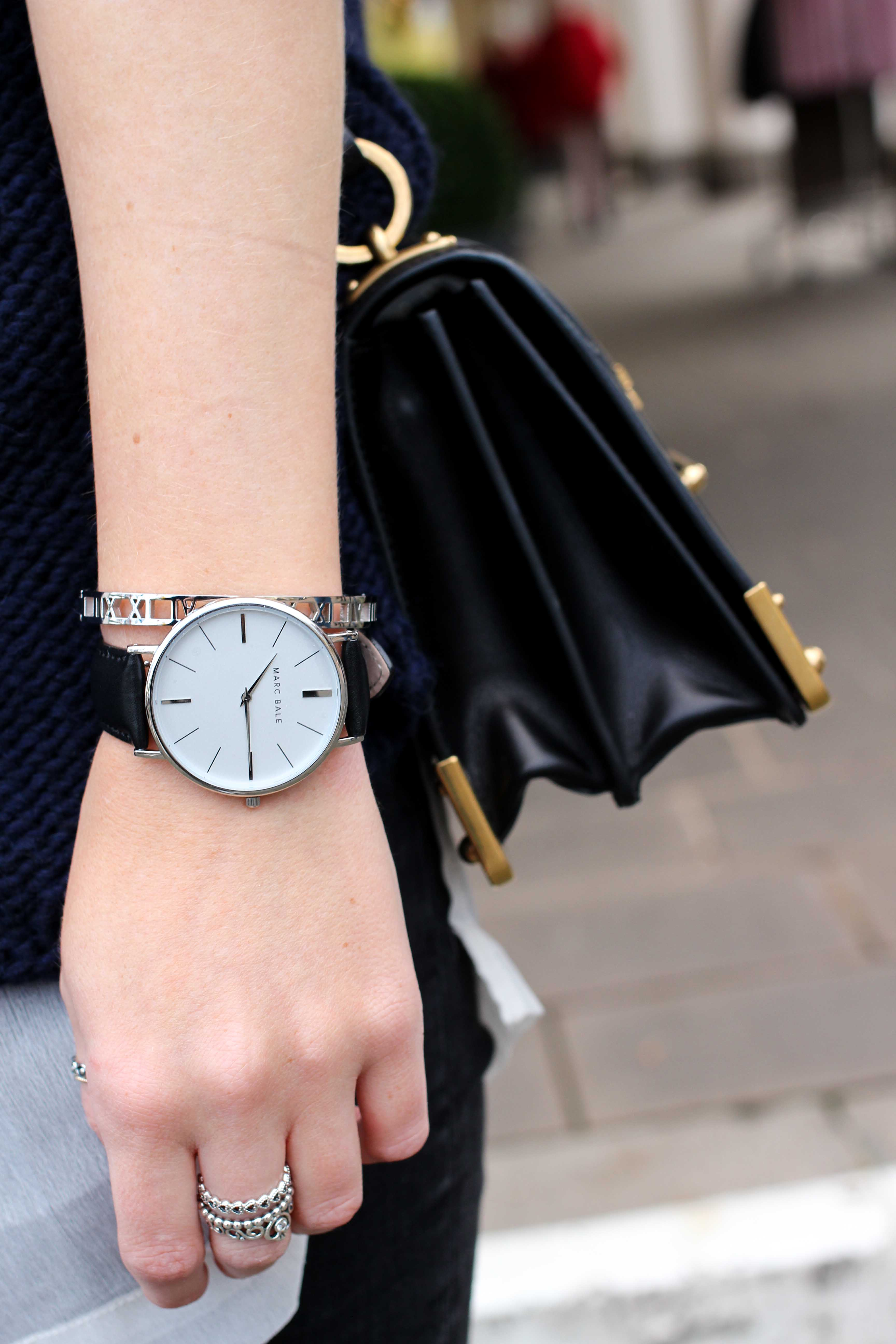 The Peach Box Uhr schwarz silber Armband Blogger 6