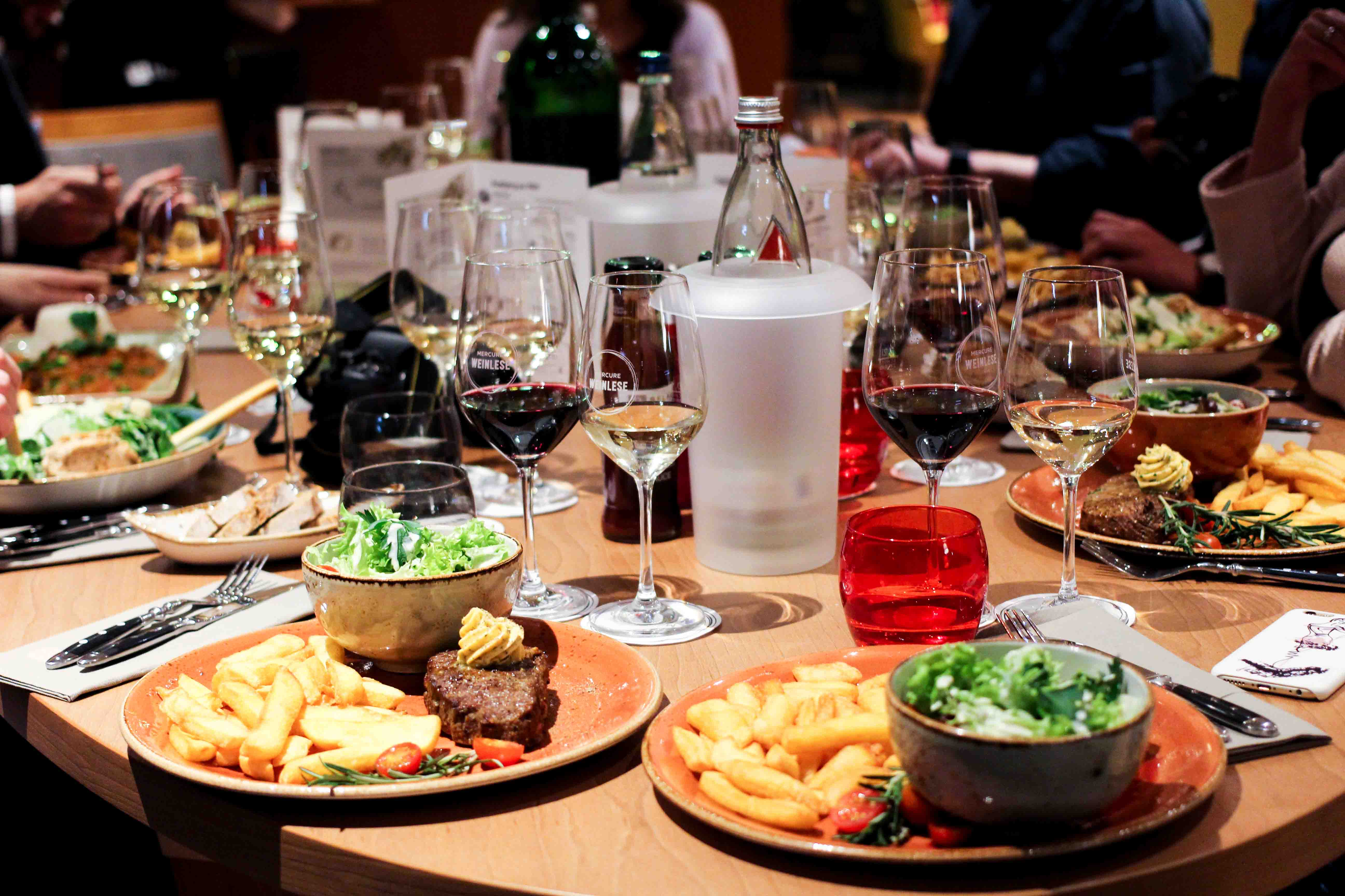 Mercure Weinlese Reiseblog Weinprobe Mercure Mannheim Bloggerevent Dinner