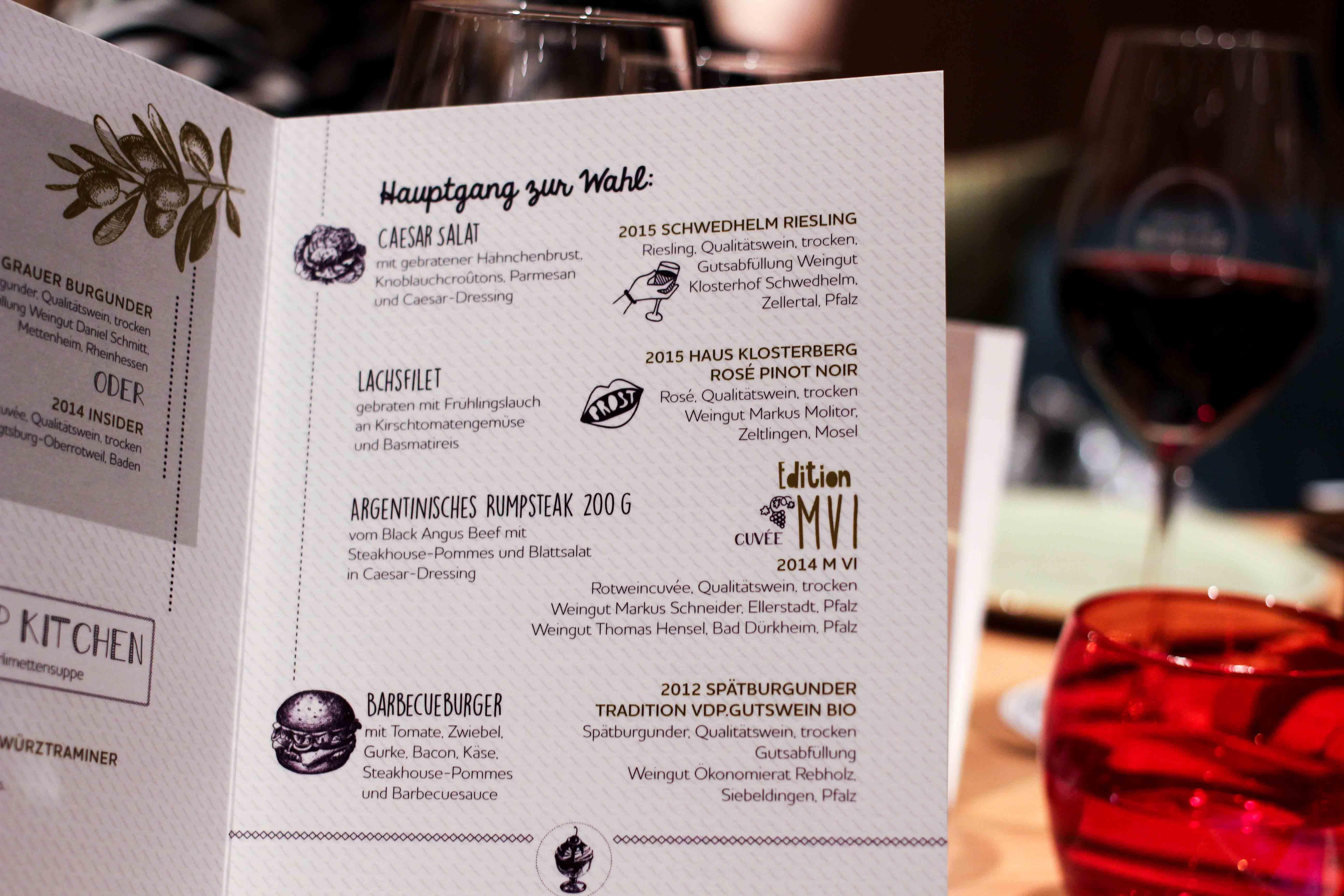 Mercure Weinlese Reiseblog Weinprobe Mercure Mannheim Speisekarte Blogger