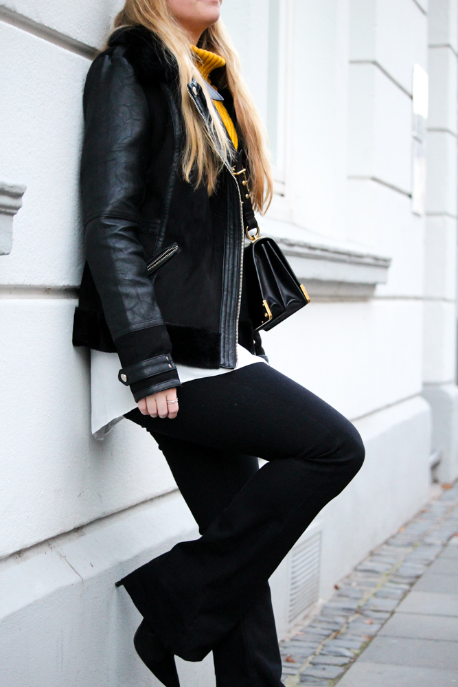 Schlaghose kombinieren Outfit Modeblog Bonn Streetstyle