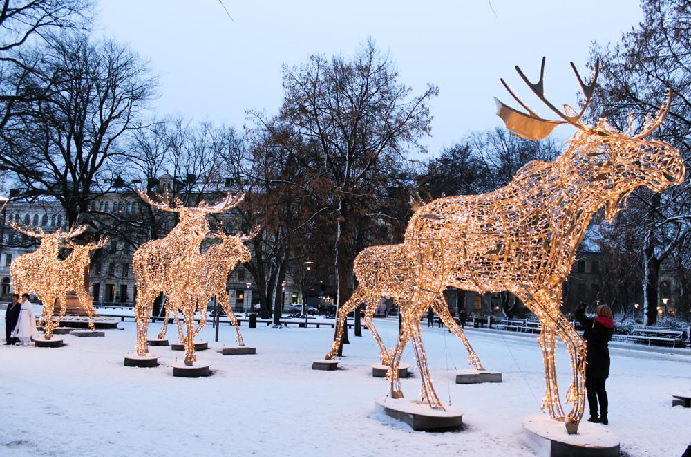 Stockholm Weihnachtszeit Tipps Weihnachtsdekoration Elch Reiseblog