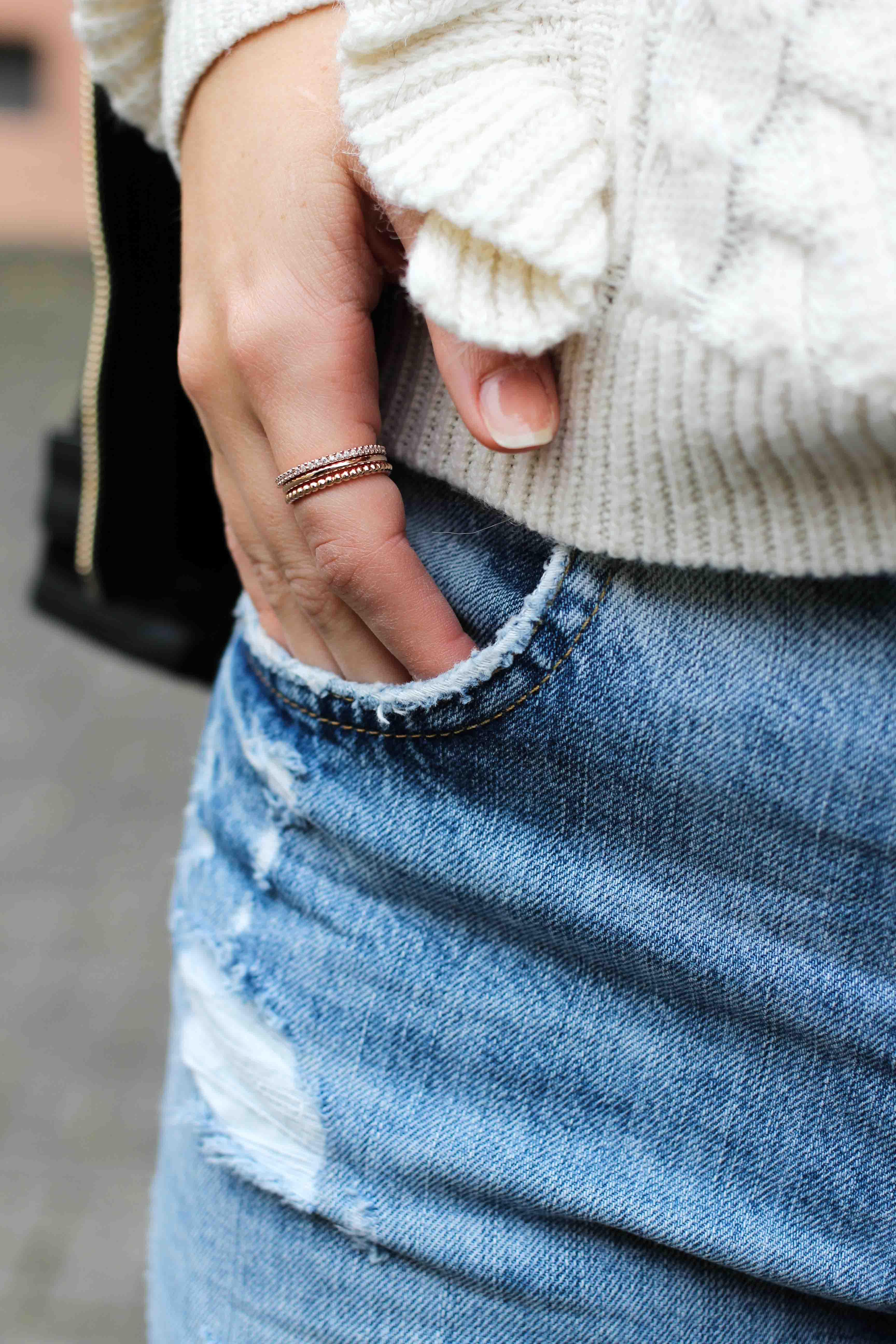 Thomas Sabo rosegold ringe filigran rosegoldener Schmuck Accessoires Modeblog kombinieren